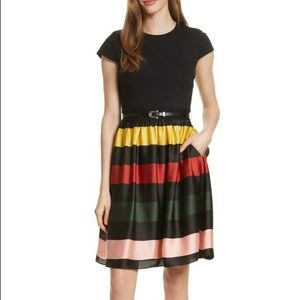 New Ted Baker Aneli Cruise Stripe Dress Ted 4=12